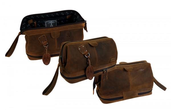 "Kulturtasche / Toiletbag ""Vintage Buffalo"" - 25- braun"