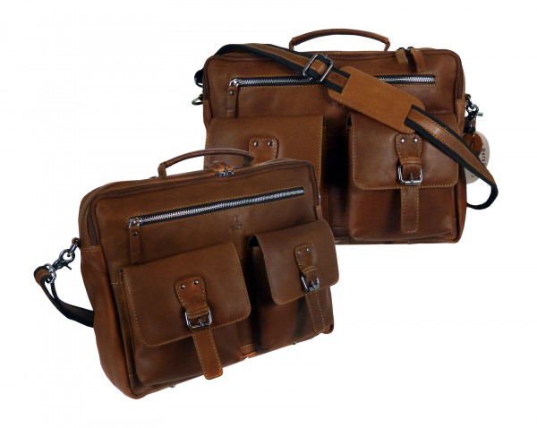 Briefcase/Mappe Laptopmappe *CASTER* 24-natur/tan