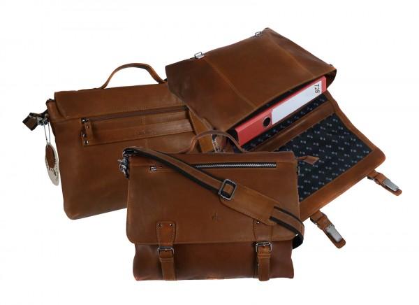 Briefcase/Mappe *CASTER* 24-natur/tan