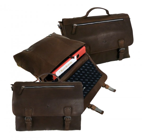 Briefcase/Mappe *CASTER* 25 - braun/brown