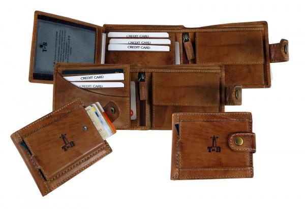 "Slim-Card Wallet / Börse ""CHEROKEE"" 25-natural brown / naturbraun"