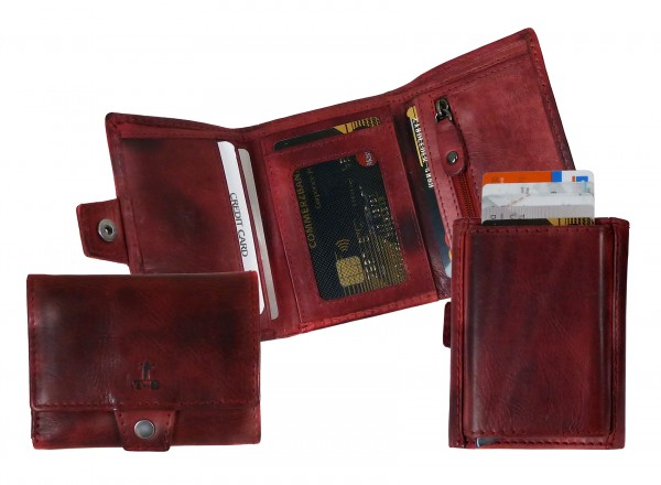 "Slim-Card -Wallet ""CHEROKEE"" 22- Cherokee red / rot-Copy"