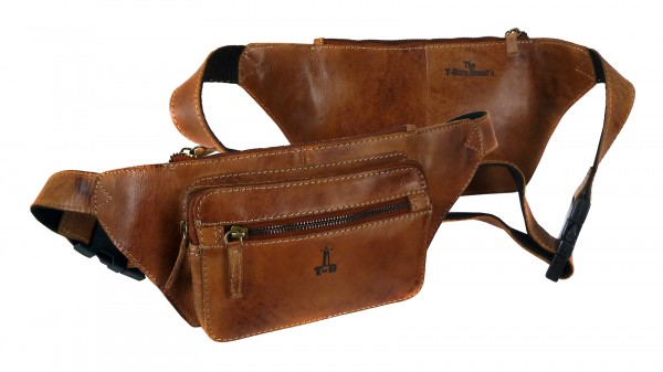 "Beltbag Unsiex ""CHEROKEE"" 25-natural brown / naturbraub-Copy"