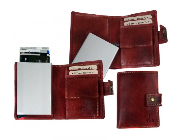 "Slim-Card Mini-Wallet / Börse ""CHEROKEE"" 22- Cherokee red / rot"